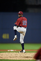 Mahoning Valley Scrappers relief pitcher Adoni Kery (52) delivers a pitch during a game against the Williamsport Crosscutters on August 28, 2018 at BB&T Ballpark in Williamsport, Pennsylvania.  Williamsport defeated Mahoning Valley 8-0.  (Mike Janes/Four Seam Images)