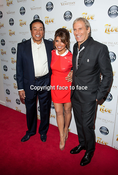 Smokey Robinson, Paula Abdul and Michael Bolton - LAS VEGAS, NV - February 8 : HSN Concert Featuring Michael Bolton at The Venetian in Las Vegas, Nevada on February 8, 2013...Credit: MediaPunch/face to face..- Germany, Austria, Switzerland, Eastern Europe, Australia, UK, USA, Taiwan, Singapore, China, Malaysia and Thailand rights only -