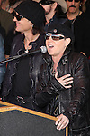 MATTHIAS JABS, KLAUS MEINE. The Scorpions are inducted into Hollywood's RockWalk, dedicated to honoring artists who have made a significant impact on Rock 'n' Roll, Blues and R&B. Hollywood, CA, USA. April 6, 2010. .