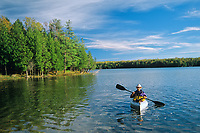 Kayaking on Georgian Bay (Lake Huron)<br />Bruce Peninsula National Park<br />Ontario<br />Canada