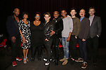 Richard E. Waits, Nancy Ticotin, Frenchie Davis, Michael Longoria, Nathan Lee Graham, Jeremy Pope, Taylor Frey, Benjamin Howes and Ben Mayne attends 'The View Upstairs' sneak preview and panel discussion at The LGBT Community Center on February 1, 2017 in New York City.
