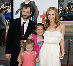 """HOLLYWOOD, CA. - April 14: Judd Apatow, wife Leslie Mann and children arrive at the premiere of Warner Bros. """"17 Again"""" held at Grauman's Chinese Theatre on April 14, 2009 in Hollywood, California."""
