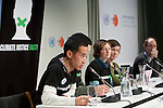 On day 32 of a hunger strike, the members of the Climate Justice fast held a press conference at the UNFCCC COP 15 in Copenhagen. (Images free for Editorial Web usage for Fresh Air Participants during COP 15. Credit: Robert vanWaarden)