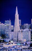 Transamerica Pyramid and the financial district, San Francisco, California USA