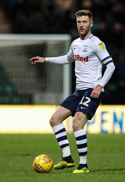 Preston North End's Paul Gallagher <br /> <br /> Photographer Andrew Kearns/CameraSport<br /> <br /> The EFL Sky Bet Championship - Preston North End v Derby County - Friday 1st February 2019 - Deepdale Stadium - Preston<br /> <br /> World Copyright © 2019 CameraSport. All rights reserved. 43 Linden Ave. Countesthorpe. Leicester. England. LE8 5PG - Tel: +44 (0) 116 277 4147 - admin@camerasport.com - www.camerasport.com