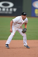 Peoria Javelinas third baseman Jonathan Meyer (17), of the Houston Astros organization, during an Arizona Fall League game against the Surprise Scorpions on October 9, 2013 at Scottsdale Stadium in Scottsdale, Arizona.  Surprise defeated Peoria 9-5.  (Mike Janes/Four Seam Images)