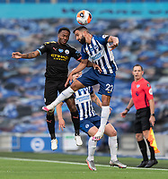 Brighton & Hove Albion's Martin Montoya (right) battles with Manchester City's Raheem Sterling (left) <br /> <br /> Photographer David Horton/CameraSport<br /> <br /> The Premier League - Brighton & Hove Albion v Manchester City - Saturday 11th July 2020 - The Amex Stadium - Brighton<br /> <br /> World Copyright © 2020 CameraSport. All rights reserved. 43 Linden Ave. Countesthorpe. Leicester. England. LE8 5PG - Tel: +44 (0) 116 277 4147 - admin@camerasport.com - www.camerasport.com