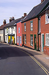 AMHK9B Terraced cottage houses Halesworth Suffolk England