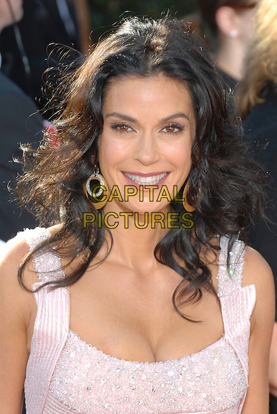 TERI HATCHER.59th Annual Primetime Emmy Awards held at the Shrine Auditorium, Los Angeles, California, USA..September 16th, 2007.headshot portrait pink cleavage jewel encrusted earrings .CAP/ADM/CH.©Charles Harris/AdMedia/Capital Pictures.