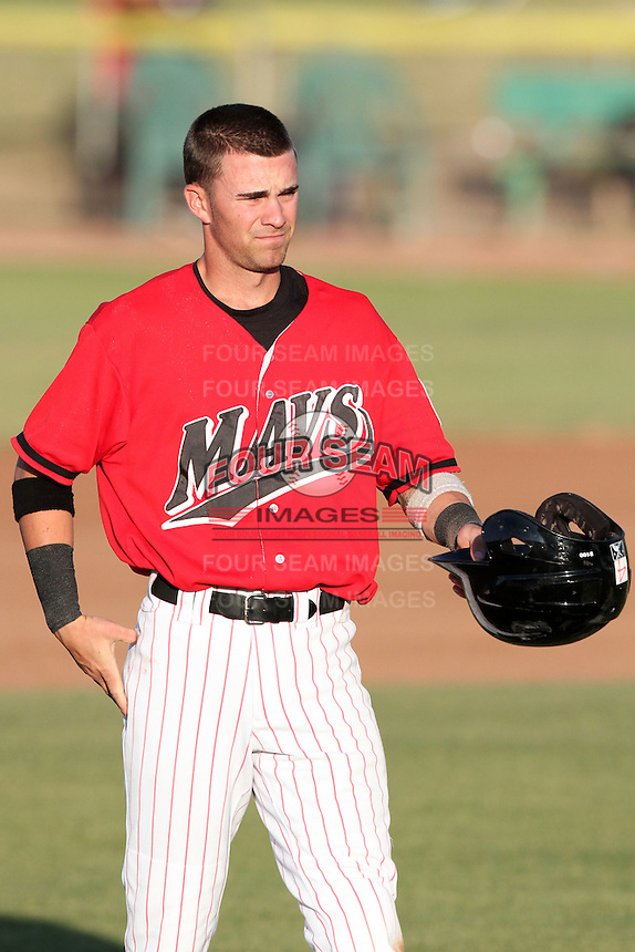 Nick Franklin #4 of the High Desert Mavericks during game against the Lake Elsinore Storm at Mavericks Stadium in Adelanto,California on June 12, 2011. Photo by Larry Goren/Four Seam Images