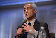 Washington, DC - January 20, 2016: Chicago Mayor Rahm Emanuel speaks during a panel discussion on 'Reducing Violence and strengthening Police/Community Trust' during the 84th winter meeting of the United States Conference of Mayors at the Capitol Hilton in the District of Columbia, January 20, 2016.  (Photo by Don Baxter/Media Images International)