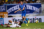 SC Kitchee Midfielder Lum Jared Christopher (C) in action against Kwok Wai Leung of Dreams FC (L) during the week two Premier League match between Kitchee and Dreams FC at on September 10, 2017 in Hong Kong, China. Photo by Marcio Rodrigo Machado / Power Sport Images