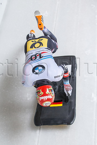 February 24th 2017,  Berchtesgaden - Konigssee, Germany; Action from the Men's Skeleton Runs 1 and 2, Alexander GASSNER GER