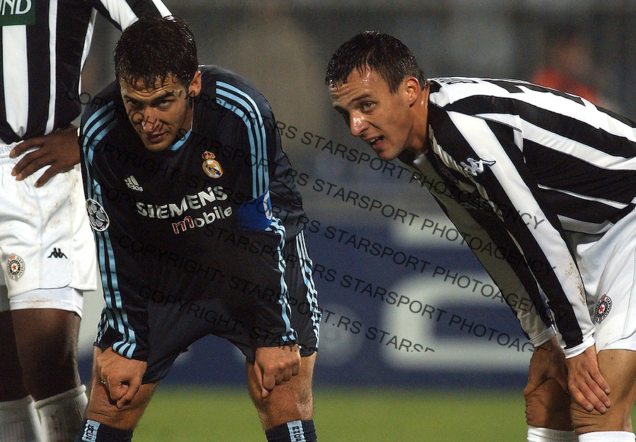 fudbal.LIGA SAMPIONA.PARTIZAN-REAL MADRID.DJORDJEVIC NENAD & RAUL.BGD, 05.11.2003..FOTO: SRDJAN STEVANOVIC