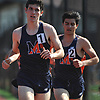 Ryan Watson of Manhasset legs out a victory in the boys' 1,600 meter race during the Nassau County AA track & field championship at MacArthur High School on Wednesday, May 23, 2018.