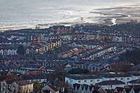 The Brynmill and Uplands areas of Swansea in south Wales, UK. Friday 15 February 2019