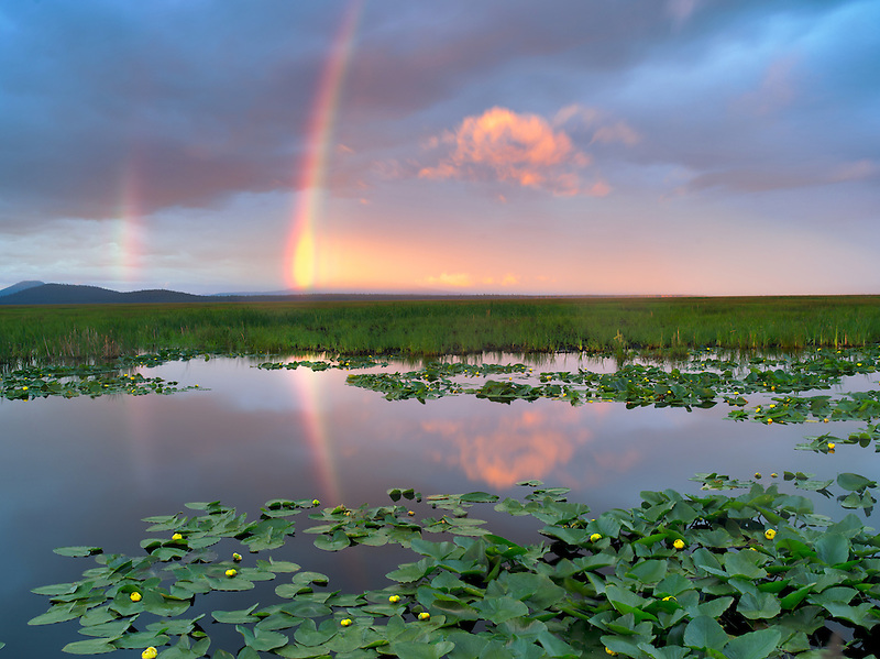Rainbow at Klamath Marsh National Wildlife Refuge, Oregon