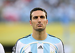 24 June 2006: Lionel Scaloni (ARG). Argentina (1st place in Group C) defeated Mexico (2nd place in Group D) 2-1 after extra time at the Zentralstadion in Leipzig, Germany in match 50, a Round of 16 game, in the 2006 FIFA World Cup.