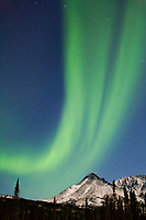Aurora borealis over the Brooks Range, south of coldfoot, Alaska.
