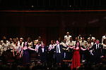 Performer Melissa Errico, Donald Pippin (conductor), Hugh Panaro, Debbie Gravitte and Ron Raines perform Jerry Herman's Broadway with the National Symphony Orchestra at The John F. Kennedy Center for Performing Arts on March 14, 2009, in Washington D.C. (Photo by Sue Coflin/Max Photos)