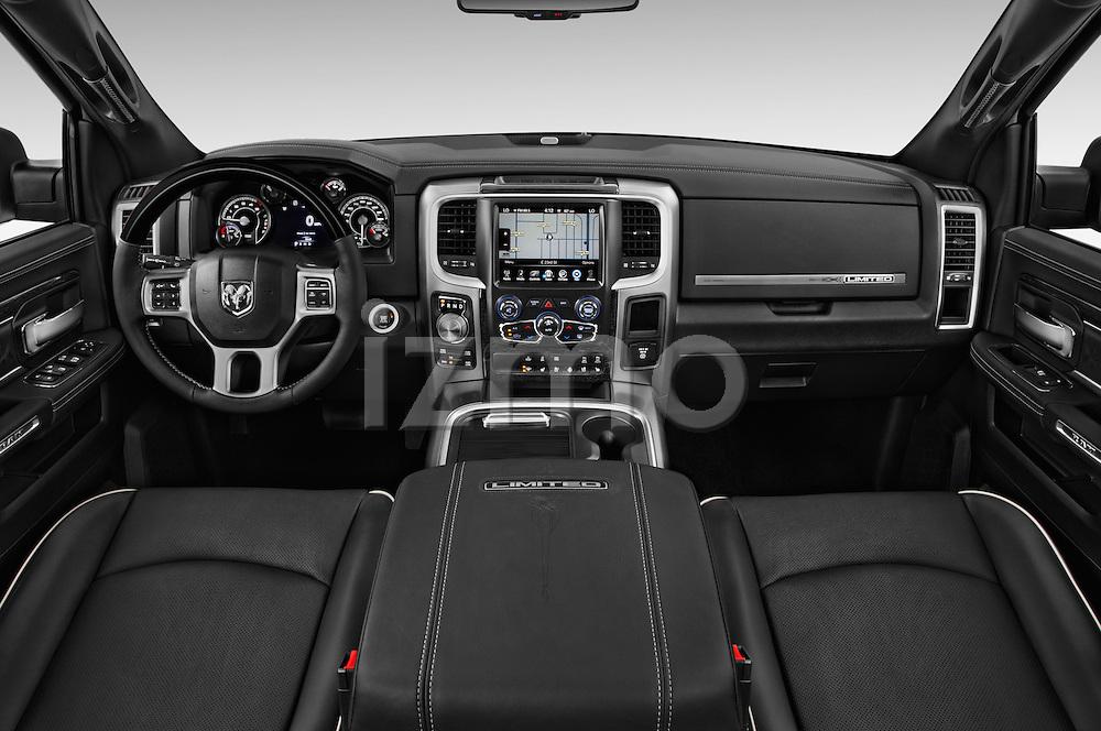 Stock photo of straight dashboard view of 2016 Ram 1500 Laramie-Limited-Crew 4 Door Pickup Dashboard