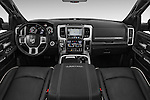 Stock photo of straight dashboard view of 2016 Ram 1500 Laramie-Limited-Crew 4 Door Pickup Dashboard