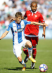 CD Leganes' Alexander Szymanowski (l) and Sevilla FC's Mariano Ferreira during La Liga match. October 15,2016. (ALTERPHOTOS/Acero)