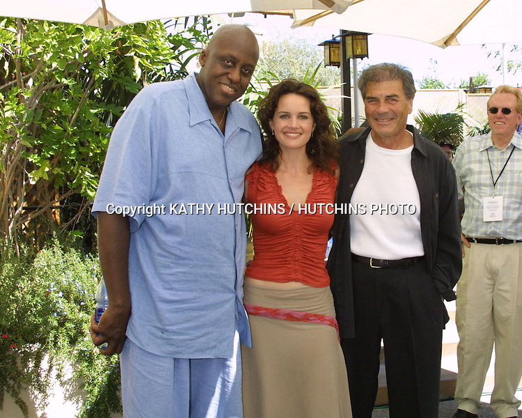 ©2003 KATHY HUTCHINS / HUTCHINS PHOTO.ABC PRIMETIME PREVIEW WEEKEND.DISNEY'S CALIFORNIA ADVENTURE PARK.SEPTEMBER 7, 2003.BILL DUKE, CARLA GUGINO, AND ROBERT FORSTER