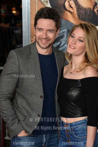 Topher Grace &amp; Ashley Hinshaw at the world premiere for &quot;Fist Fight&quot; at the Regency Village Theatre, Westwood, Los Angeles, USA 13 February  2017<br /> Picture: Paul Smith/Featureflash/SilverHub 0208 004 5359 sales@silverhubmedia.com