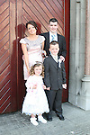 Dylan, Kaci, Niall and Joanne Thornton at the St. Marys Congress Avenue Communion in St. Marys Church...Photo NEWSFILE/Jenny Matthews.(Photo credit should read Jenny Matthews/NEWSFILE)....This Picture has been sent you under the condtions enclosed by:.Newsfile Ltd..The Studio,.Millmount Abbey,.Drogheda,.Co Meath..Ireland..Tel: +353(0)41-9871240.Fax: +353(0)41-9871260.GSM: +353(0)86-2500958.email: pictures@newsfile.ie.www.newsfile.ie.FTP: 193.120.102.198.