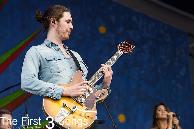 Hozier performs during the 2015 New Orleans Jazz & Heritage Festival in New Orleans, Louisiana.