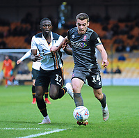 Lincoln City's Harry Toffolo vies for possession with Port Vale's Idris Kanu<br /> <br /> Photographer Andrew Vaughan/CameraSport<br /> <br /> The EFL Sky Bet League Two - Port Vale v Lincoln City - Saturday 13th October 2018 - Vale Park - Burslem<br /> <br /> World Copyright © 2018 CameraSport. All rights reserved. 43 Linden Ave. Countesthorpe. Leicester. England. LE8 5PG - Tel: +44 (0) 116 277 4147 - admin@camerasport.com - www.camerasport.com