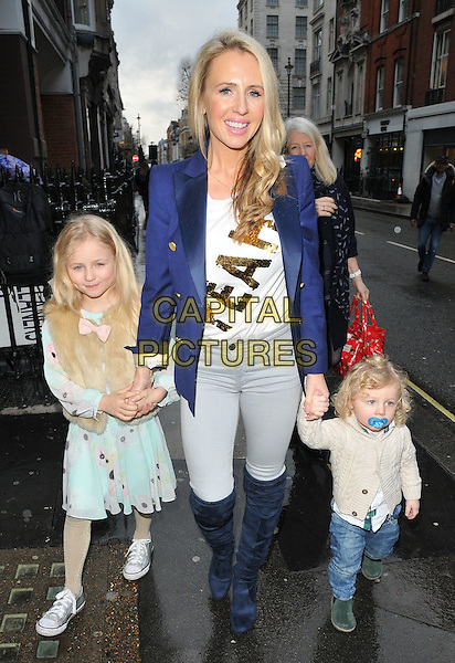 Naomi Isted and kids at the Disney On Ice Mouse Bounce VIP party, 93 Mortimer Street, Mortimer Street, London, England, UK, on Wednesday 15 February 2017.<br /> CAP/CAN<br /> &copy;CAN/Capital Pictures