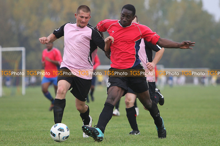 Homerton Rangers (red) vs Romania Galaxy (pink) - East London Sunday Football League at South Marsh, Hackney Marshes - 31/10/10 - MANDATORY CREDIT: Gavin Ellis/TGSPHOTO - Self billing applies where appropriate - Tel: 0845 094 6026