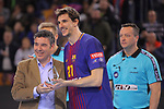 VELUX EHF 2017/18 EHF Men's Champions League Group Phase - Round 11.<br /> FC Barcelona Lassa vs HC Vardar: 29-28.<br /> Viran Morros.