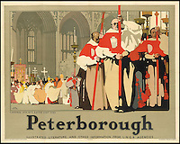 BNPS.co.uk (01202 558833)<br /> Pic: SwannGalleries/BNPS<br /> <br /> ***Please Use Full Byline***<br /> <br /> Peterborough - 1935 - &pound;800<br /> <br /> Beautiful posters from the halcyon days of travel up for auction.<br /> <br /> Scarce vintage travel posters promoting holidays across the globe in the 1920's and 30's are tipped to sell for over &pound;200,000 .<br /> <br /> The fine collection of 200 works of art that hark back to the halcyon days of train and boat travel have been brought together for sale.<br /> <br /> The posters were used to advertise dream holiday destinations in far-flung places such as the US and Australia and to celebrate the luxurious ways of getting to them.<br /> <br /> Most of the advertising posters date back to the 1930s and are Art Deco in style and they are all from the original print-run.