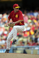 February 28 2010: Ben Mount of USC during game against UCLA at Dodger Stadium in Los Angeles,CA.  Photo by Larry Goren/Four Seam Images