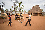 Children play in the Kaya Refugee Camp in Maban County, South Sudan. Kaya is one of four camps in Maban County that together shelter more than 130,000 refugees from the Blue Nile region of Sudan. Misean Cara provides support for the work of Jesuit Refugee Service in Maban.