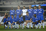 2 August 2004: Chelsea's starting lineup. Front row (l to r): Didier Drogba, Wayne Bridge, William Gallas, Scott Parker, Geremi. Back row (l to r): Claude Makelele, John Terry, Carlo Cudicini, Eidur Gudjohnsen, Paulo Ferreira, Frank Lampard. AC Milan of La Liga in Italy defeated Chelsea of the English Premier League 3-2 at Lincoln Financial Field in Philadelphia, PA in a ChampionsWorld Series friendly match..