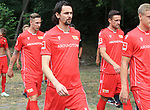 06.07.2019, Stadion an der Wuhlheide, Berlin, GER, 2.FBL, 1.FC UNION BERLIN , Mannschaftsfoto, Portraits, <br /> DFL  regulations prohibit any use of photographs as image sequences and/or quasi-video<br /> im Bild Neven Subotic (1.FC Union Berlin #63), Sebastian Polter (1.FC Union Berlin #9), Christian Gentner (1.FC Union Berlin #62)<br /> <br /> <br />      <br /> Foto © nordphoto / Engler