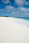 A perfect beach on the remote island of Kiritimati in Kiribati