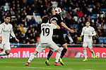 Real Madrid's Alvaro Odriozola and CD Leganes's Sabin Merino fight for the ball during Copa Del Rey match between Real Madrid and CD Leganes at Santiago Bernabeu Stadium in Madrid, Spain. January 09, 2019. (ALTERPHOTOS/A. Perez Meca)<br />  (ALTERPHOTOS/A. Perez Meca)