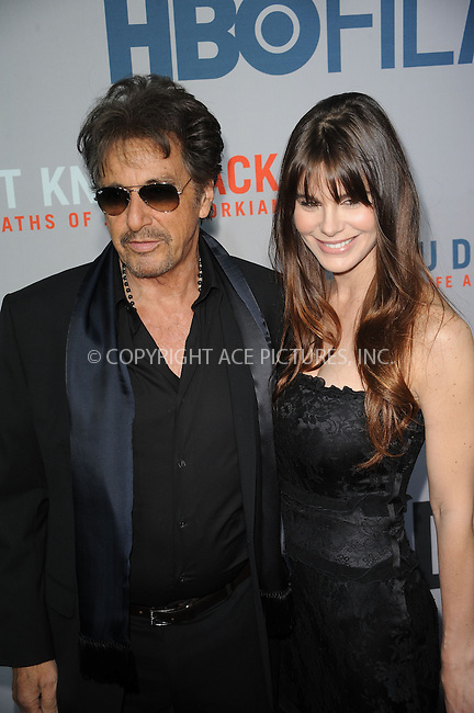 WWW.ACEPIXS.COM . . . . . ....April 14 2010, New York City....Actor Al Pacino and girlfriend Lucila Sola arriving at the HBO Film's 'You Don't Know Jack' premiere at Ziegfeld Theatre on April 14, 2010 in New York City. ....Please byline: KRISTIN CALLAHAN - ACEPIXS.COM.. . . . . . ..Ace Pictures, Inc:  ..(212) 243-8787 or (646) 679 0430..e-mail: picturedesk@acepixs.com..web: http://www.acepixs.com