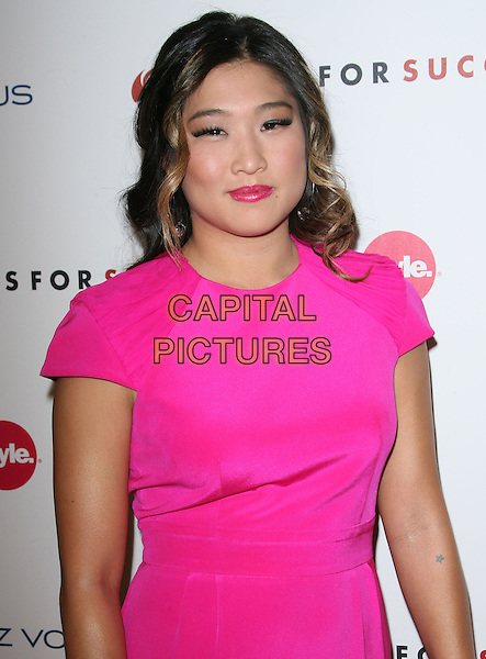 Jenna Ushkowitz.3rd Annual Give & Get Fete benefiting Dress for Success Worldwide-West held at The London West Hollywood Hotel, West Hollywood, California, USA..November 7th, 2011.half length pink neon fluorescent dress lipstick .CAP/ADM.©AdMedia/Capital Pictures.