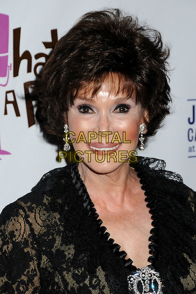 MARY ANN MOBLEY.'What A Pair! 7' Celebrity Concert to Benefit the John Wayne Cancer Institute held at The Broad Stage, Santa Monica, CA, USA..September 26th, 2009.headshot portrait black lace silver brooch earrings .CAP/ADM/BP.©Byron Purvis/AdMedia/Capital Pictures.