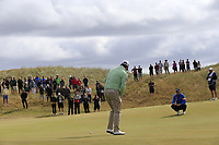 Graeme McDowell (NIR) putts on the 14th green during Thursday's Round 1 of the 2018 Dubai Duty Free Irish Open, held at Ballyliffin Golf Club, Ireland. 5th July 2018.<br /> Picture: Eoin Clarke | Golffile<br /> <br /> <br /> All photos usage must carry mandatory copyright credit (&copy; Golffile | Eoin Clarke)