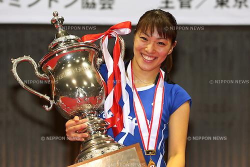 Kaori Imabeppu (JPN), .December 9, 2012 - Badminton : .The 66th All Japan Badminton Championships 2012, Women's Singles Medal Ceremony .at Yoyogi 2nd Gymnasium, Tokyo, Japan. .(Photo by Daiju Kitamura/AFLO SPORT) [1045]