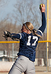 March 10, 2012:   Nevada Wolf Pack pitcher Mallary Darby throws against the San Diego Toreros during their NCAA softball game played as part of the The Wolf Pack Classic at Christina M. Hixson Softball Park on Saturday in Reno, Nevada.