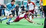 ALMERE - Hockey - Hoofdklasse competitie heren. ALMERE-HGC (0-1) . Daniel de Haan (Almere) met links  Weigert Schut (HGC) .    COPYRIGHT KOEN SUYK