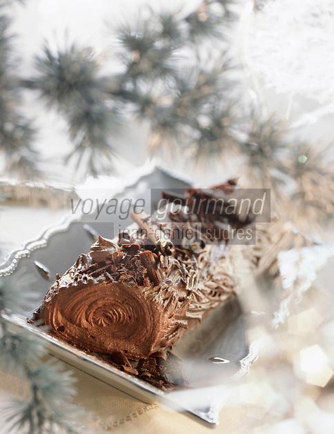 Cuisine/Gastronomie: Buche tout chocolat